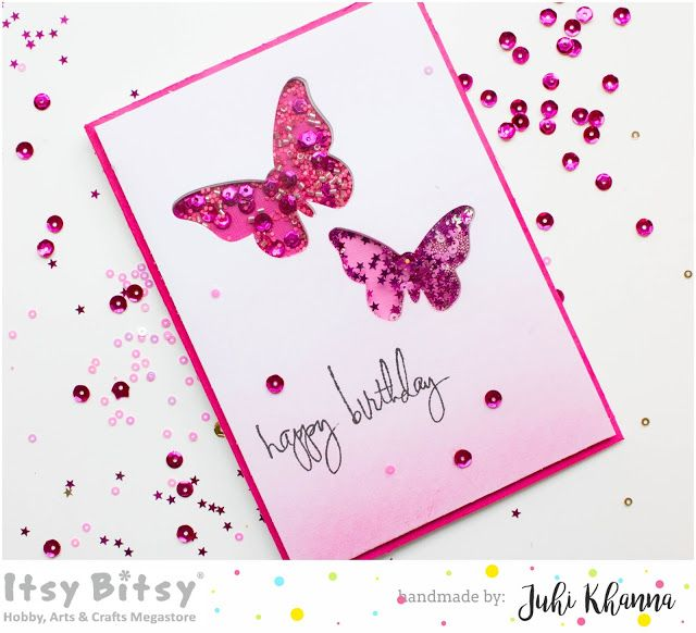 Itsy Bitsy - The Blog place: Easy Butterfly Shaker Card