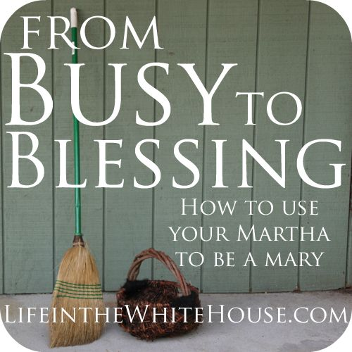 From Busy to Blessing - a #31Days series by @Jessica White