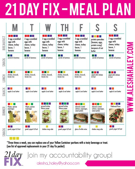 21 day fix MEAL PLAN // #21dayfix #mealplan