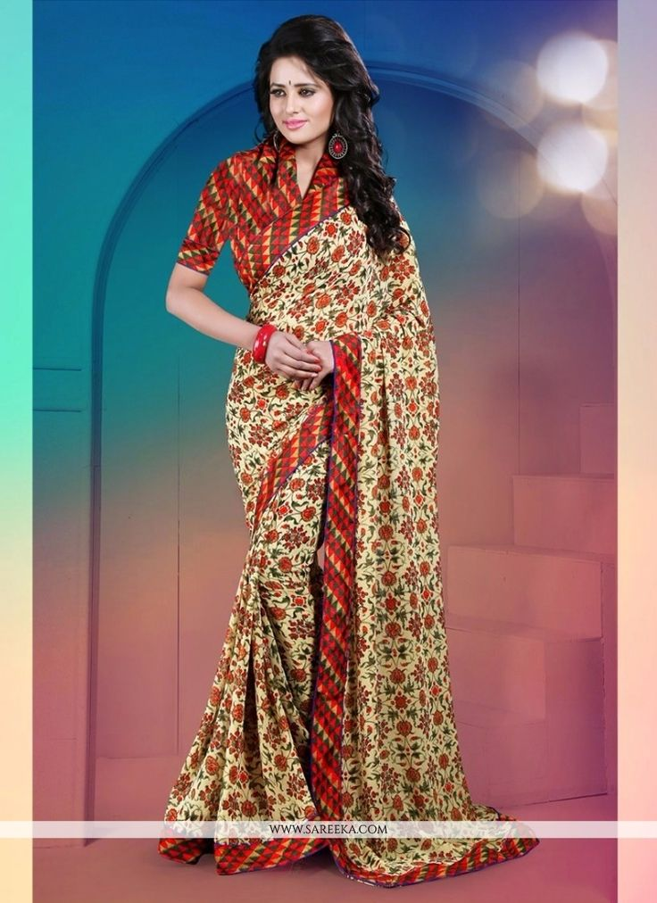 An exceptional multi colour fancy fabric casual saree will make you appear extremely stylish and graceful. The ethnic print work with a attire adds a sign of splendor statement to your look. Comes wit...