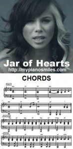 Jar of Hearts - Chords - http://mypianosmiles.com/2013/10/jar-of-hearts-chords/