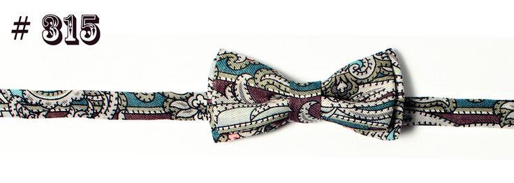 Hemd Fliege #315 Unikat mit Paisley-Muster aus 100% Wolle, blau | Shop à la Russe