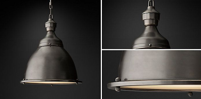 20th C English Cloche Pendant Collection Bronze Rh Pendent Lighting Ceiling Lights Pendant Light