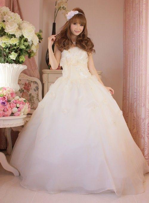 中古ウェディングドレス・中古カラードレス中古カラードレス AJK0284 カラー:サーモン サイズXS|ドレスショップALLURE(アリュール)