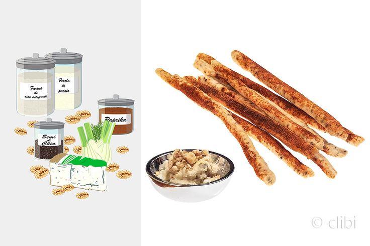 GRISSINI ALLA PAPRIKA Grissini senza glutine non lievitati super veloci da preparare. http://clibi.net/2015/11/25/grissini-alla-paprika-senza-glutine/