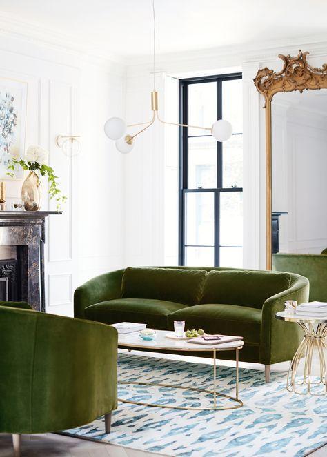 49 ideas living room green olive velvet sofa  quality