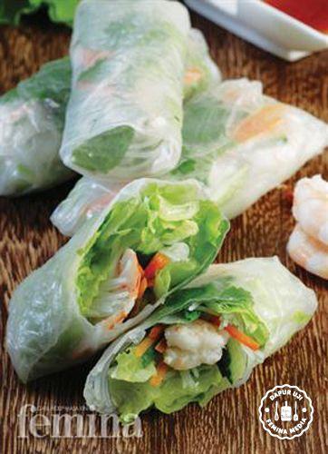 Resep Goi Cuon Lumpia Vietnam Resep Masakan Vietnam Masakan Resep Diet