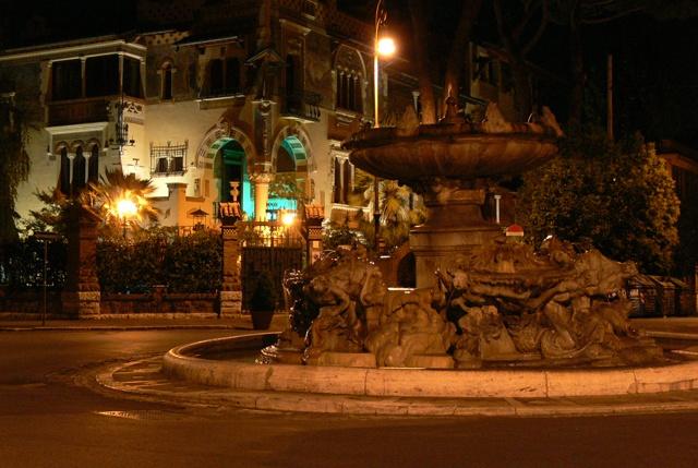Villino delle Fate and Fontana delle Rane in the Quartiere Coppedè of Rome