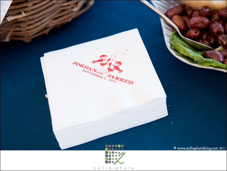 Custom Reception Napkins | Nico and Lala