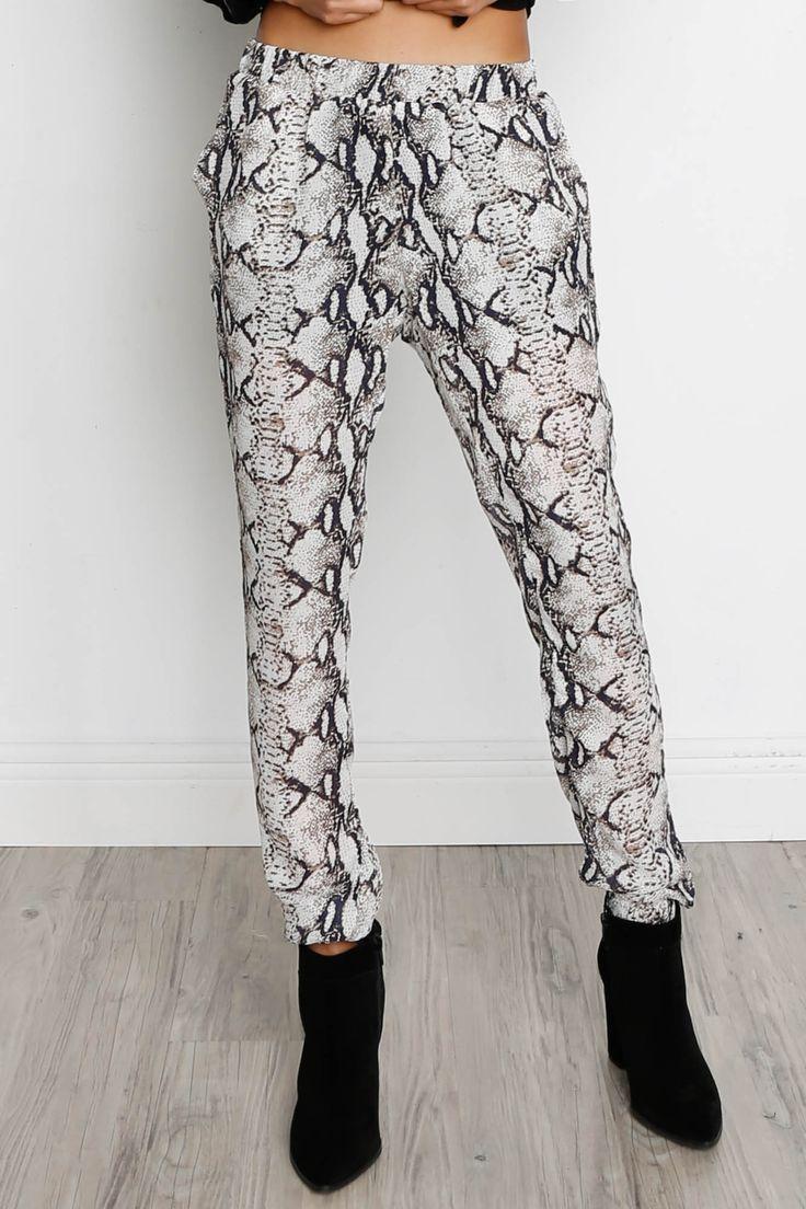 Bishop + Young Snake Print Pant