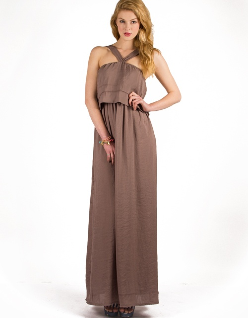 #maxi sleeveless #dress with #ruffle on the chest! #toimoifashion #fashion #fashionable #style #stylish #summer #ss13 #trends
