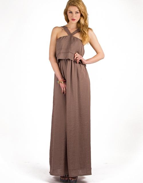 #maxi sleeveless #dress with #ruffle on the chest! #toimoifashion #fashion #fashionable #style #stylish #summer #ss13 #trends
