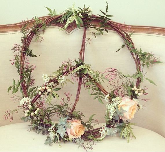 Peace wreath by cotton blossom studio