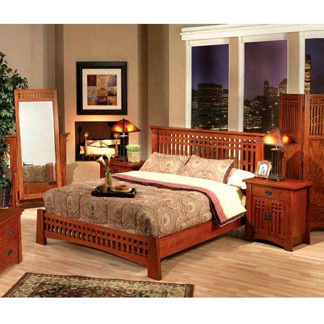 http://www.lafuente.com/Rustic-Furniture/Mission-Oak-Furniture/Bedroom/7090/ Eastern King Platform Bed Item #: 50204