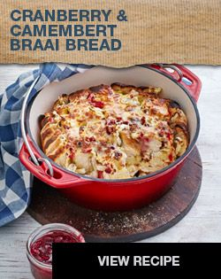 Cranberry & Camembert Braai Bread