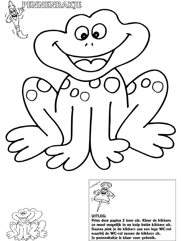 zivotinje slike coloring pages | kikker pennenbakje | zivotinje | Coloring pages, Color et ...