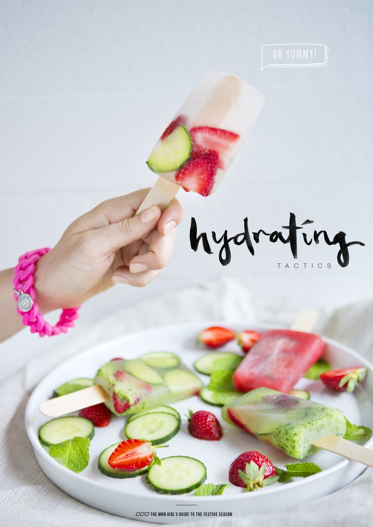 YUM! Hydrating popsicles
