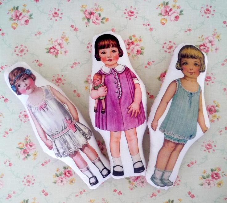 Vintage inspired cloth doll. $20.00, via Etsy.Clothing Dolls, Dolls בובת, Paper Dollsartassemblag, Sweets Dolls, Vintage Wardrobe, Paper Dolls Art Assemblage, Vintage Inspiration, Dolls Inspiration, Inspiration Clothing