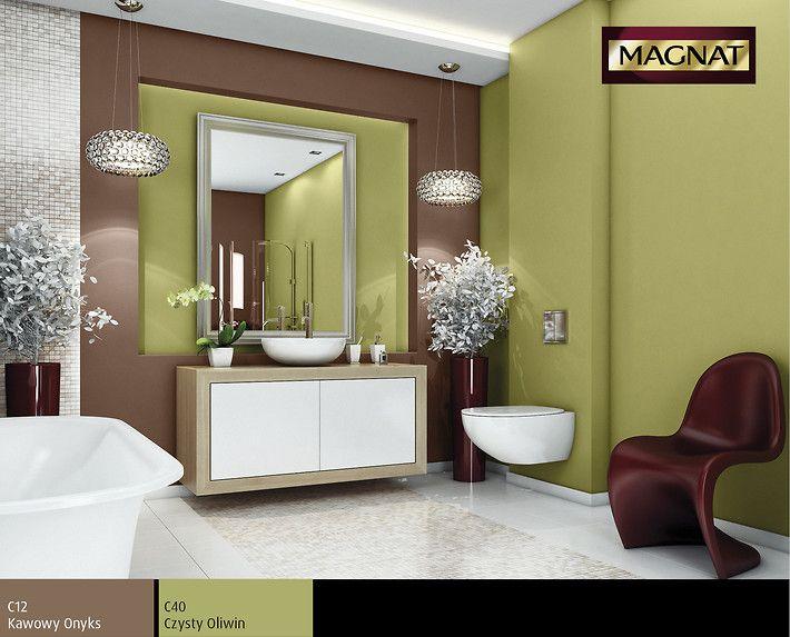 Kolor oliwkowy do łazienki