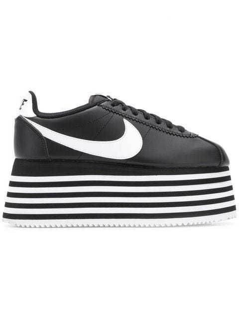 8a00d68667422 NIB*Nike*x Comme de Garcon Cortez Leather Platform Sneaker*5 6 7 8 9*Black    eBay