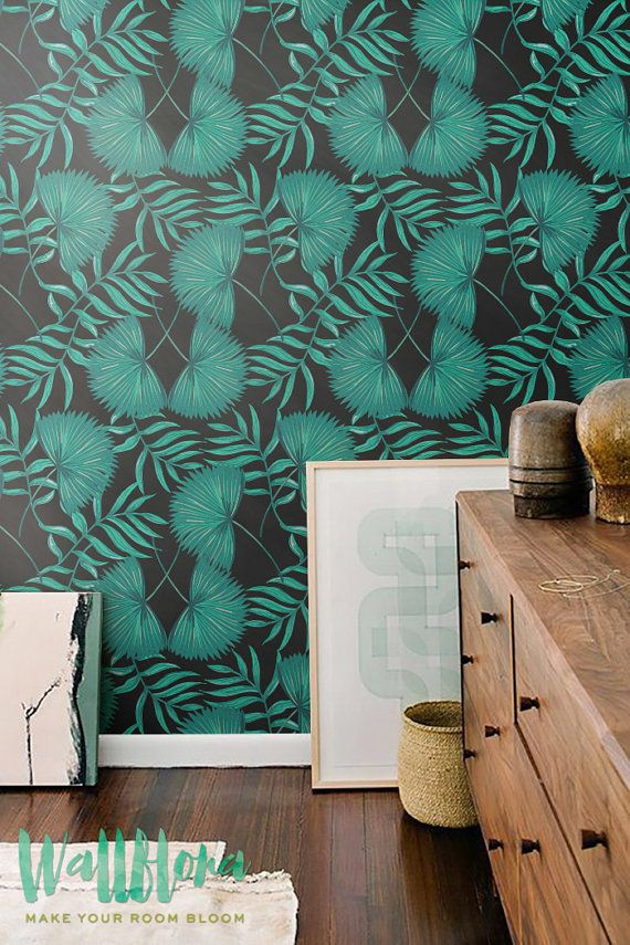 Transform any room in your home into a tropical paradise with this self adhesive wallpaper! This vinyl wallpaper features a print of turquoise