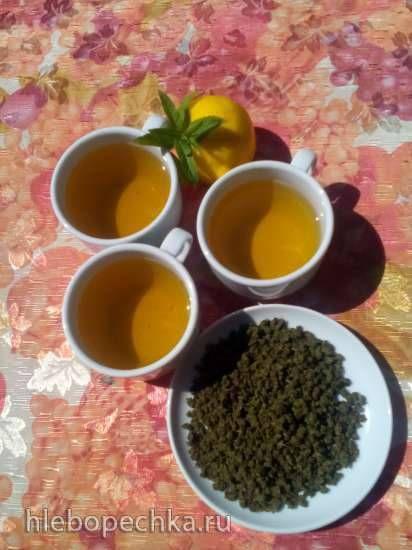 """Чай ферментированный """"Мохито"""" из листьев мяты, винограда и вишни"""