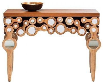 Konsole Locomotive - Massivholz Trompetenbaum - eclectic - Console Tables - Other Metro - home24.de