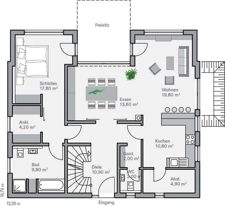 25 More 3 Bedroom 3d Floor Plans: 17 Best Ideas About 3 Bedroom House On Pinterest