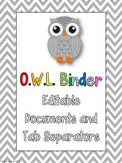 Second Grade Nest: O.W.L. Binders