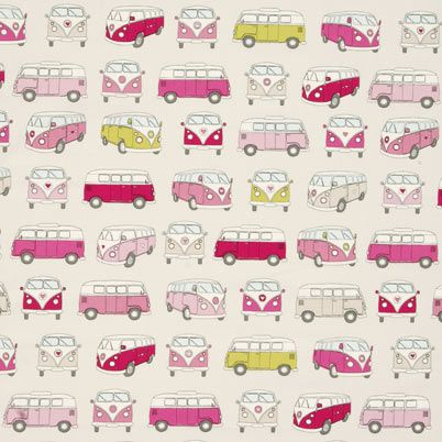 If you love fun décor and whimsical designs, the Campervans Curtain Fabric Pink is a perfect fit. It's especially grand if you're an avid weekend warrior taking going wherever the wind blows you when the work-week is finished.