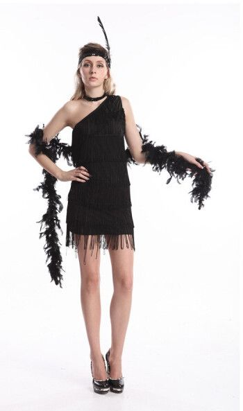 FREE SHIPPING Ladies 1920s Flapper Costume Holder Gloves Womens 20's fancy dress costume
