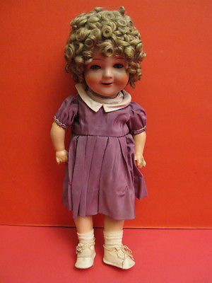 SHIRLEY TEMPLE COMPOSITION DOLL CARL BERGNER Germany 1930
