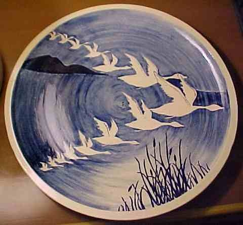 Unmarked Marrianna McKamy Large Platter