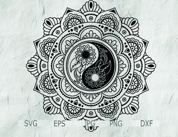 Yin Yang Tattoo Mandala Tattoo Design Yin Yang Mandala Svg Circle Mandala Mandala Svg Mandala Mandala Tattoo Design Mandala Tattoo Marquesan Tattoos