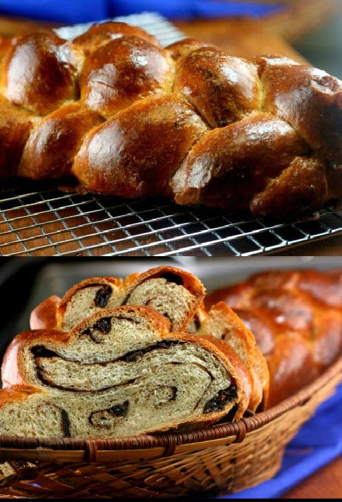 Chocolate Cinnamon Swirl Braid (Challah)