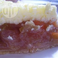 Torta cheesecake de ruibarbo