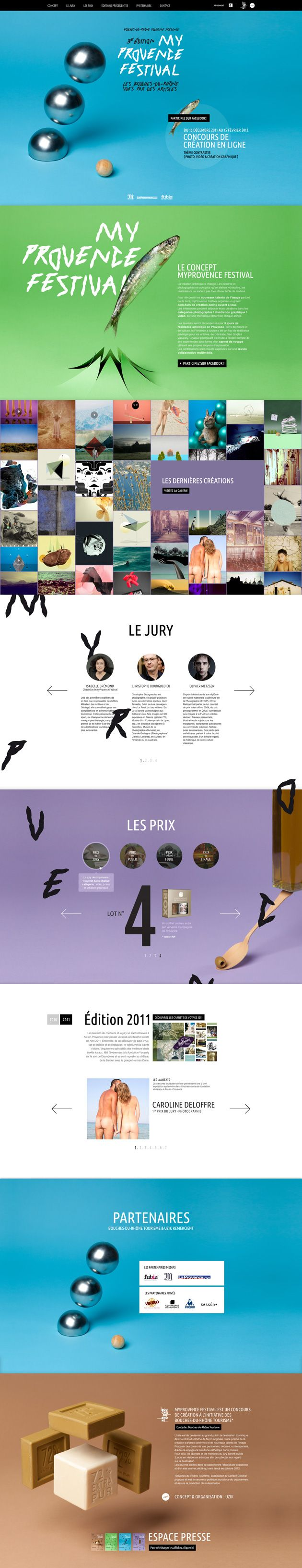 http://www.uzik.com/fiche-portfolio-myprovence-festival #webdesign #design #designer #inspiration #user #interface #ui #web    Stay up to date with daily web design news:  http://www.fb.com/mizkowebdesign