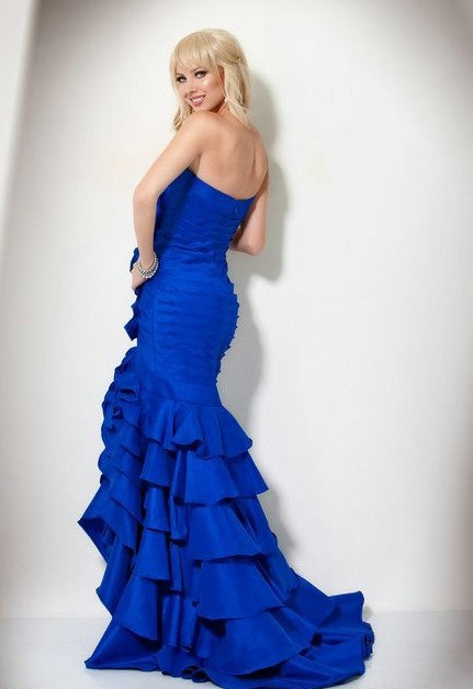 Cheap Free Shipping Mermaid Sweetheart Court Train Ruched Evening Dresses 2013 at Weddingdressunion.com