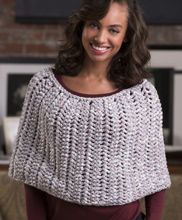 Easy Poncho Knitting Pattern Free : Best shawl knitting patterns images on pinterest