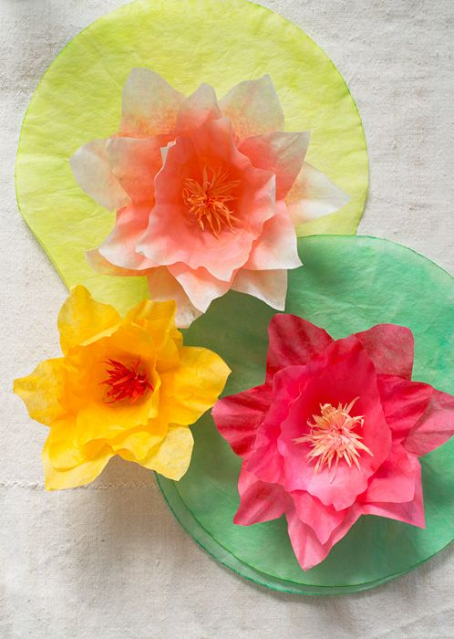 Coffee filter water lilies by Super Make It