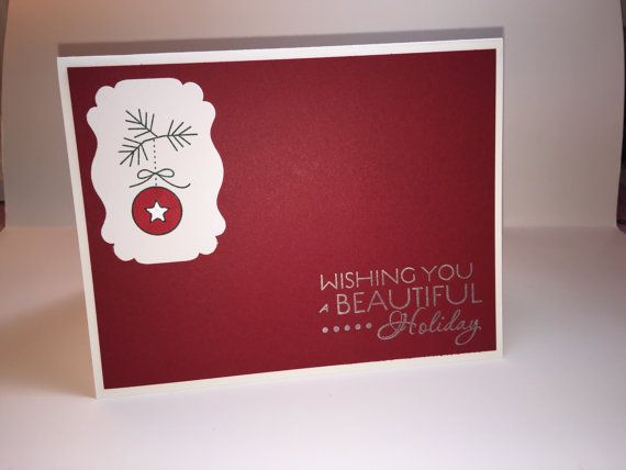 I love making handmade cards, and especially Christmas Cards.