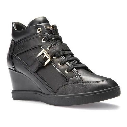 Women's Geox Eleni Wedge Sneaker D6267C /Royal Nappa
