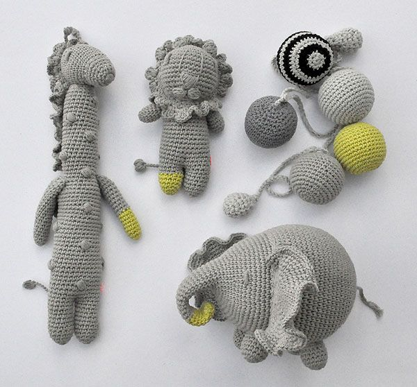 Crochet animals - miga de pan