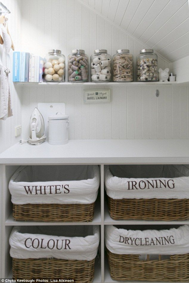 Organised:She also has her washing machine and dryer neatly placed…