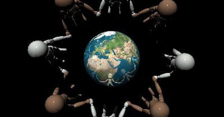 """Os princípios do multiculturalismo em uma sala de aula. O multiculturalismo em uma sala de aula reflete a """"educação e instrução feitos para as culturas de várias raças diferentes em um sistema educacional"""", de acordo com Keith Wilson do site EdChange. Os princípios de uma educação multicultural ensinam aos alunos apreciarem, aceitarem e honrarem diferentes grupos de pessoas. Os professores podem usar ..."""