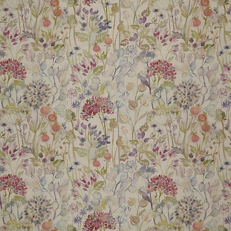 Voyage Hedgerow Linen Furnishing Fabric Multi Voyage