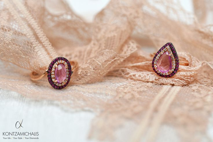 Pink Sapphire ring made with love and care by #KontzamichalisJewellery