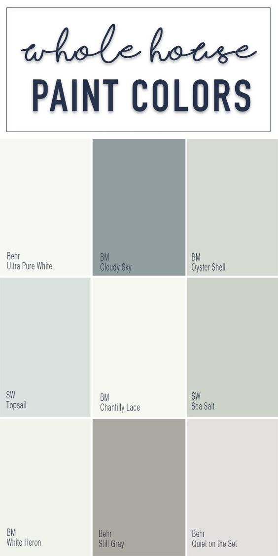 Paint colors for a whole home color palette with calming neutral paint colors fr... interior paint