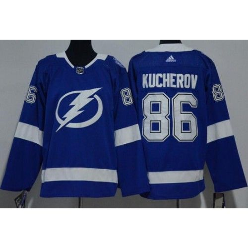 size 40 e73fb 155bc Youth Tampa Bay Lightning #86 Nikita Kucherov Blue Adidas ...