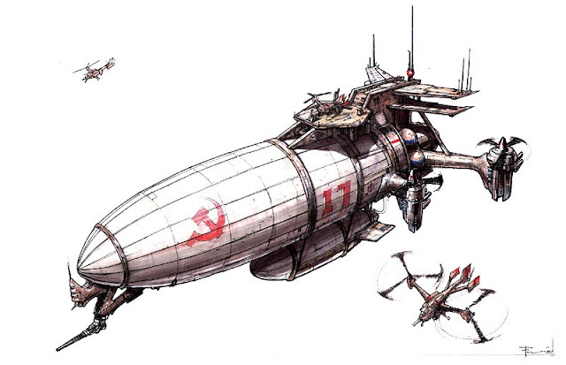 "Concept art for ""Command and Conquer: Red Alert 2"